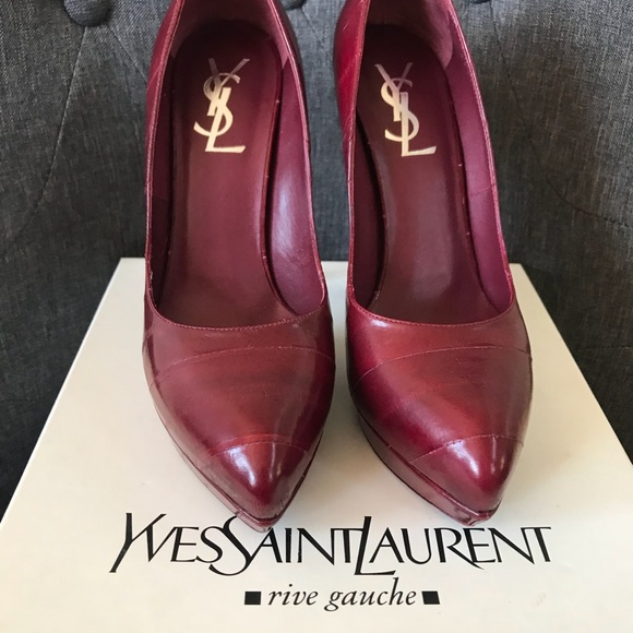 b1b8a1cd1bb Yves Saint Laurent Shoes | 105 Platform Divine Pumps | Poshmark